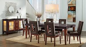 furniture dining room sets sofia vergara savona chocolate 5 pc rectangle dining room dining