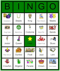 mardi gras bingo a kid friend mardi gras bingo card i actually made this using the