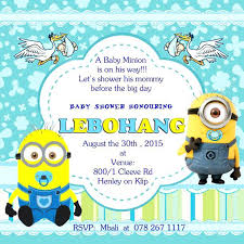minions baby shower minion baby shower invitation template for pool party baby