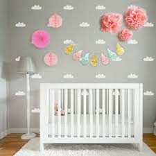 design kit white cloud wall decals with hot air balloon garland design kit white cloud wall decals with hot air balloon garland