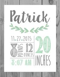 baby plaques personalized best 25 birth announcement sign ideas on baby name