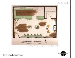 Coffee Shop Floor Plans Cafe U2013 Freehand Floor Plan Rendering Design Style Daily
