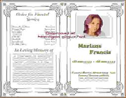 free funeral template obituary templatememorial brochure