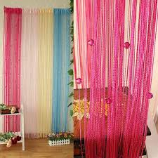 sheer curtains beaded string line curtain window door panel room