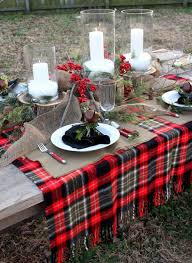 17 best christmas table ideas images on pinterest buffalo check
