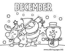 december friends coloring pages printable