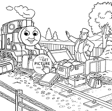 printable coloring pages thomas train