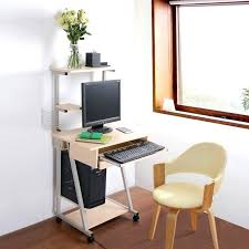 Small Laptop Computer Desk Laptop Computer Desk Workstation With Printer Shelf Narrow Desks