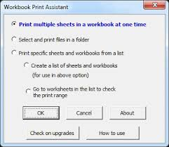 print multiple worksheets or workbooks at one time in microsoft excel