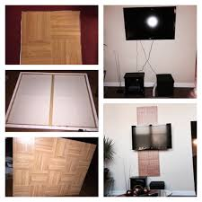 creative way to hide tv cords using two canvas boards sticker