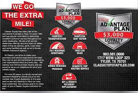 local toyota dealers classic advantage plan
