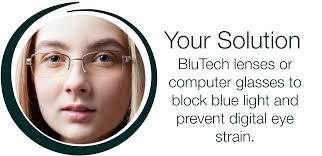 glasses that block fluorescent lights blue light eye2eye optometry corner