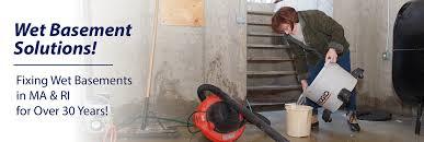 Wet Basement Waterproofing - basement waterproofing boston crawl space repair in providence