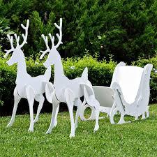 santa sleigh for sale large christmas sleigh and reindeer set