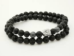 bracelet homme images Bracelet perles de lave pour homme et pierre naturelle avec h matite jpg