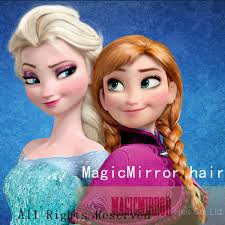 anna from frozen hairstyle 7pcs lot cosplay snow queen blonde wig kanekalon anna elsa