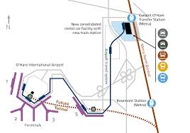 Chicago Ohare Terminal Map by Crossrail Chicago Midwest High Speed Rail Association
