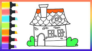 how to draw house coloring pages for kids nursery rhymes art