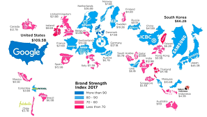 Austria World Map by A World Map Of Brands Ama Triangle