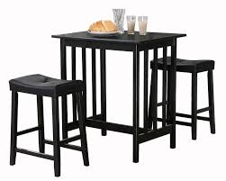 amazon com homelegance 5310bk mtl 3 piece counter table and