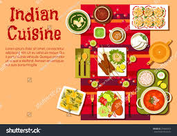 cuisine z indian national cuisine dishes on festive เวกเตอร สต อก 394895923