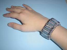 make a funky safety pin bracelet 3 steps with pictures