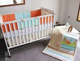Crib Baby Bedding Giol Me Num Fox 3d Embroider Crib Baby Bedding Set Cotton Print 4