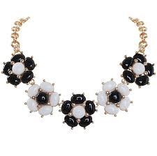 black flower necklace images Cheap floral statement necklace find floral statement necklace jpg