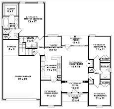 5 bedroom floor plans 1 story 5 bedroom 3 bath floor plans homes floor plans