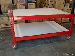 packing table with shelves mobile packaging table