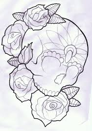 collection of 25 cross skull and roses design