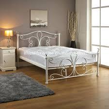 bohemian bed frame new white metal bedframe bed frame super king