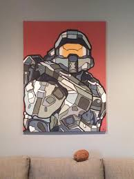 halo 5 chief light switch plate cover gamer room home decor