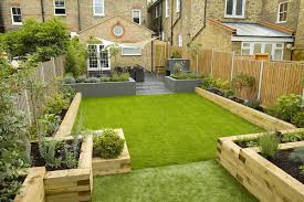 small garden border ideas wimbledon family garden design with formal dining terrace and