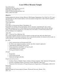 loan officer sample resume communications officer sample resume