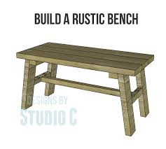 Rustic Bench Coffee Table Build A Rustic Bench U2013 Designs By Studio C