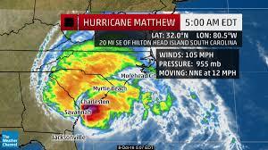 Map Of Hilton Head Sc Storm Surge Near 6 Feet In Charleston Sc Eyewall Of Matthew