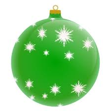 merry ornament blank green