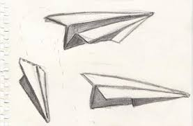 paper airplane drawings high art lessons pinterest
