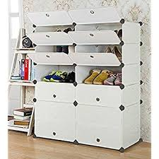 amazon com songmics diy shoe rack 12 cube shoe cabinet plastic