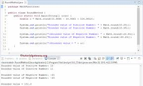 rounding integer numbers java math function