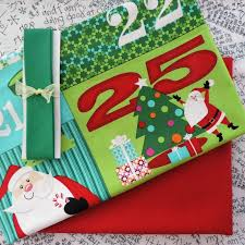 countdown advent calendar fabric panel backing bias pack