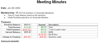 Treasurer Spreadsheet Meetings Vulcan Riders Association Usa