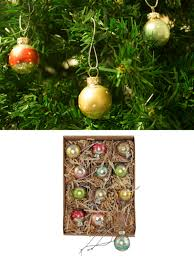 gisela graham glass christmas tree decoration set mini baubles