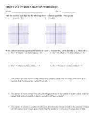 12 5 through 12 7 variation worksheet w answers