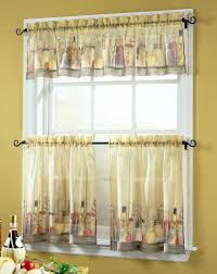 simple sheer kitchen window curtains with u on design