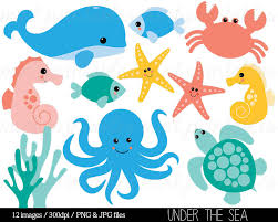 animal clipart ocean pencil and in color animal clipart ocean