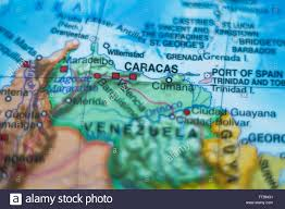 Venezuela Map Venezuela Map And Cities Stockfotos U0026 Venezuela Map And Cities