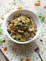 cuisiner le petit eautre petit épeautre aux courgettes rôties pistaches raisins secs le