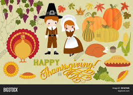 thanksgiving pilgrams thanksgiving symbols and icons including pilgrims turkey corn